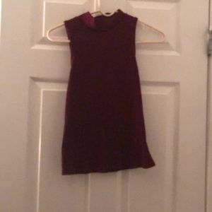 City streets XS Maroon turtleneck tank